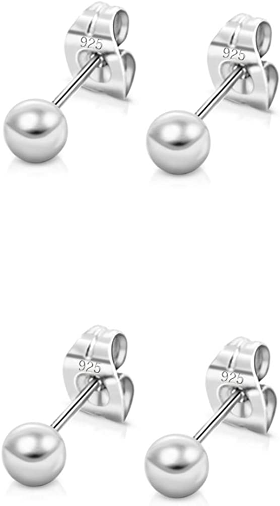 Daily bargain sale DTPsilver Set of 2 PAIRS TINY Sale SALE% OFF 925 Sterling SMALL 24K Silver