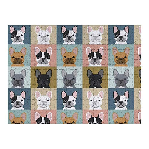 500 PCS Jigsaw Puzzle for Kids Adults - French Bulldog Dog, Artwork Art Premium Quality Large Jigsaw Puzzle Toy for Intellectual Educational Home Decor (20.5x15 Inch) Flowers and Skulls 500 PCS