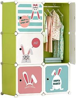 Armoire Enfant Simple Plaque économique Moderne en Plastique Assemblée Petite Armoire Chambre Liuyu. (Color : Green)