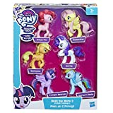 My Little Pony – Figurines des 6 Poneys Principaux - Twilight Sparkle, Pinkie Pie, Applejack, Rainbow Dash, Rarity & Fluttershy - 8 cm