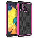 SYONER [Shockproof] Protective Phone Case Cover for Samsung Galaxy A20 / Galaxy A30 (6.4', 2019) [Hot Pink]