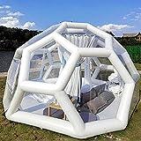 Foammaker Outdoor Transparent Tent, Single Layer Closed-Air Transparent Football...