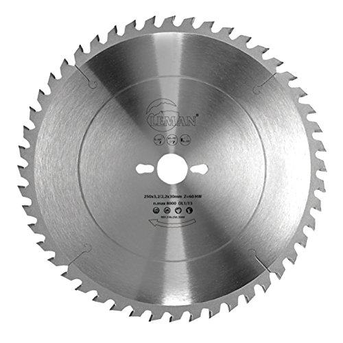 Leman 363.250.3080AL Sierra circular para corte de madera, 250 x 30 mm, 80 dientes
