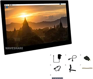 Coolwell Waveshare 13.3inch HDMI Capacitive Touch Screen LCD with Toughened Glass Cover, 1920×1080, IPS, Support Various D...