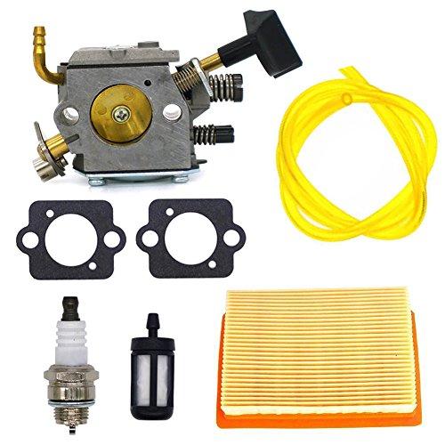 FitBest Carburetor with Air Filter Fuel Line Kit for Stihl BR320 BR340 BR380 BR400 BR420 4203-120-0603 4203-120-0605 Backpack Blower Carb