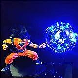 Dragon Ball Hijo Espíritu Explosión Bombas Luz De Noche De La Bola del Dragón Lámpara De Mesa De Dibujos Animados Goku Bulbo Lámpara Casa Interior Ligero,E