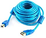 20 Foot A/B Hi-Speed USB 2.0 Cable with Gold Connectors and a Ferrite Core