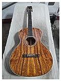 HQYYDS Guitarra Parlor Guitar Slot Headstock Professional Wood Top Calidad Guitarra acústica OO Guitarras acústicas adecuadas para Jugadores en Todas Las etapas. Instrumento Musical