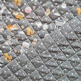 Stoff Baumwollstoff Meterware Steppstoff taupe Fuchs Sterne