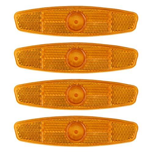 Donnagelia Lot de 4Pcs R/éflecteurs Rayons De V/élo Avertissement R/éfl/échissant Roues De V/élo VTT