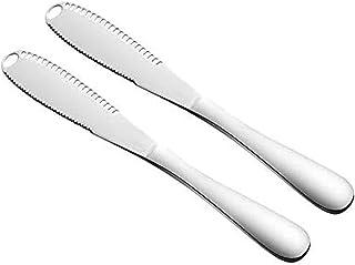 TIEMORE Spalmatore di Burro in Acciaio Inossidabile 3 in 1 spalmatore di spalmatore e bigodino di Burro con Bordo Dentellato per Cucina