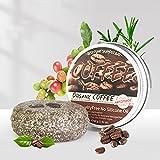 Barra de champú para rejuvenecimiento del cabello con cafeína, barra jabón y champú, planta hierbas jengibre sólido, ginseng poligonal natural contra las canas (Caffe)