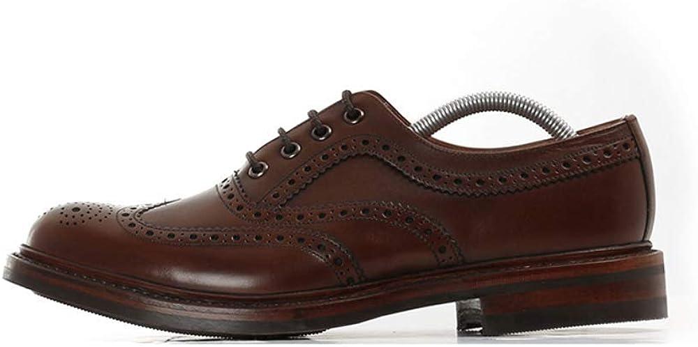 Loake Edward Dark Brown Burnished Calf Leather Mens Oxford Shoes 8.5