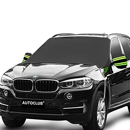 AUTOCLUB Car Windshield Snow Cover,3-Layer Protection&Double Side Design,Snow