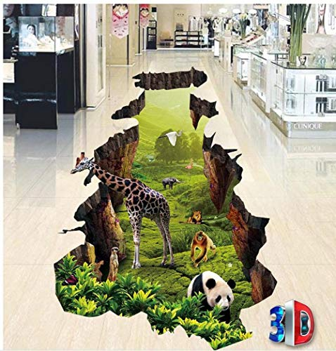 Fotobehang muurschildering vloer op maat foto zelfklevende 3D vloer PVC waterdichte vloer huisdecoratie 400 cm.