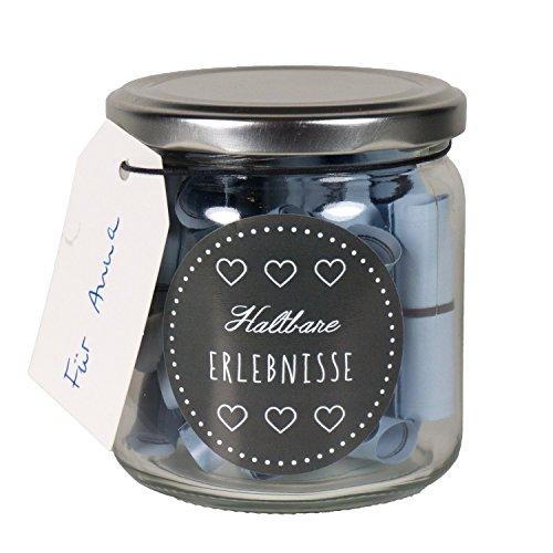 Presentou Erlebnisbox für Paare 26 Dating Lose zum selbst beschriften   Gutschein Geschenk für verliebte   Liebesbeweis Geschenk für Männer und Frauen   Geschenk für Brautpaare (Deckelglas)