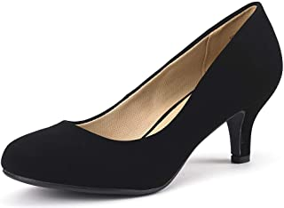 Women's Luvly Bridal Wedding Party Low Heel Pump Shoes
