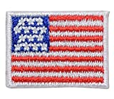 Mini/Small - American Flag - Embroidered Iron on Patch