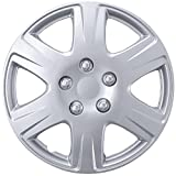 BDK 1P-KT-993-15 (1Pc Replacement) Premium 15 Inch Hubcap 15' Wheel Rim Cover Hub Caps OEM Style Snap On for Car Truck SUV
