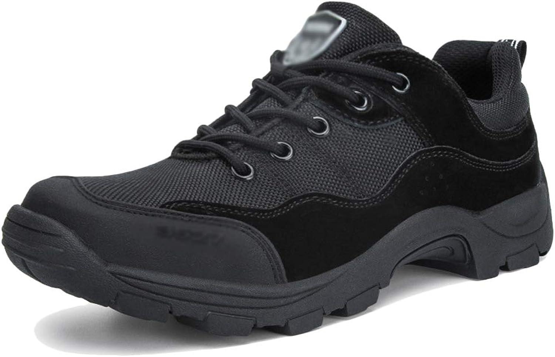 NDHSH NDHSH Herren Low-Top Kampfstiefel Outdoor Wanderschuhe Schnürstiefel Streifenstiefel Laufschuhe rutschfeste Sportstiefel Schuhe,schwarz-45  mit 100% Qualität und 100% Service