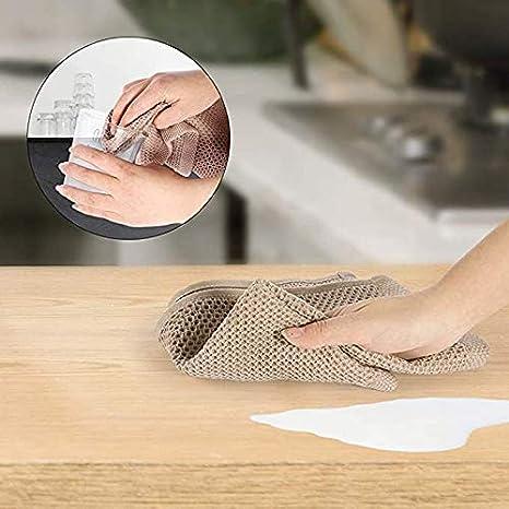 TOPSALE 6Pack 100/% Strofinacci da Cucina nel Cotone con Trama Un Nido dApe Strofinacci Ad Asciugatura Rapida Assorbenti Ultra Morbidi 13 Pollici X 13 Pollici-Grigio