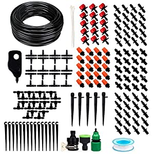 TIMESETL 168 pcs Sistema de riego de jardín, Micro Kit de riego por Goteo Riego automático Rociadores automáticos Kit de…