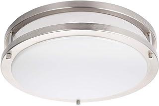 فیش نور سقفی Drosbey 36W LED ، لامپ سقفی 13in Flush Mount ، لامپ سقفی برای اتاق خواب ، آشپزخانه ، حمام ، راهرو ، Stairwell ، Super Bright 3200 Lumens ، 5000K نور روز