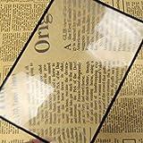 QINGJIA 1pcs Book Page Ampliación Lupa X3 180X120mm Conveniente Hoja A5 Plana de PVC de la Lupa de Lectura Lente de Cristal Lectura/Obeservación/Reparación