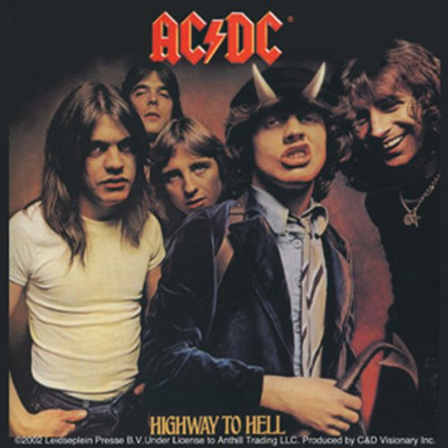 Licenses Products AC/DC Highway To Hell Sticker