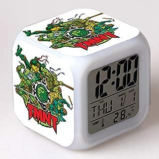 TMNT Turtles LED 7 Colors Change Digital Alarm Clock Thermometer Night Colorful Glowing Teenage Mutant Ninja Turtles Xmas Toys