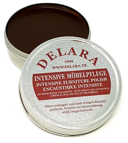 Delara cuidado intensivo para los muebles de muy alta calidad, con cera de abeja y aceite de coco, 75ml., marrón