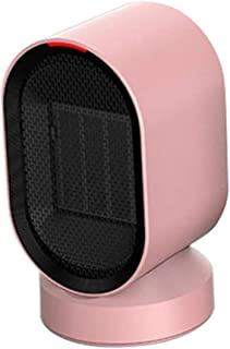 Fan-Ling 1pcs Mini Household Electric Heater,Desktop Mini Silent Portable Adjustment Rotatable Air Heater Fan,Safe Warm Home Office Tool,Efficient Heat Dissipation (Pink)