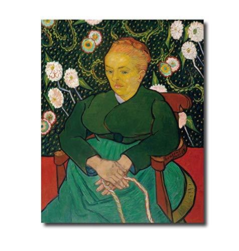 XuFan Van Gogh - Lienzo decorativo con diseño de mujer mecedora (40 x 50 cm, sin marco)