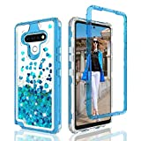 Wydan Case for LG K51, Reflect (TracFone), Q51 - Glitter Hybrid Shockproof Liquid Quicksand Bling Phone Cover