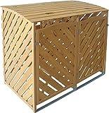 TrendLine Mülltonnenbox Holz 2 x 240 l Mülltonnen...