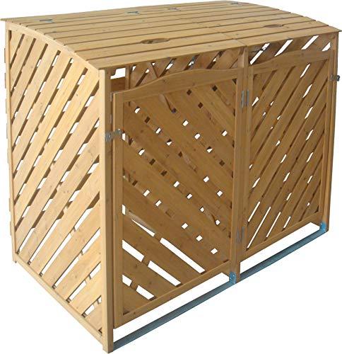 TrendLine Mülltonnenbox Holz 2 x 240 l Mülltonnen Müllbox Mülltonnenverkleidung