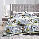 Peyolad Manta de Cama de Franela Suave Mantas de Tiro Suave for Kids Teenages Adults Bedroom Decor Midsommar Pattern Ultra Soft Micro Fleece Blanket 80X60inches