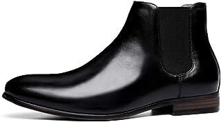 Kirabon Botas Chelsea de Hombre de Gama Alta y Botas de Cuero de Ante (Color : Negro, Size : 42)