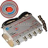 Amplificateur répartiteur d'antenne TV, 4 sorties, pour TNT