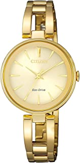 Citizen Women's Solar Powered Wrist watch, stainless steel Bracelet analog Display and Stainless Steel Strap, EM0632-81P