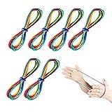 JOYUE 6 Pièces Rainbow Rope Cats Cradle Corde Jeu de Ficelle Corde à Doigts Fournitures de Jouets (Longueur 165 cm)