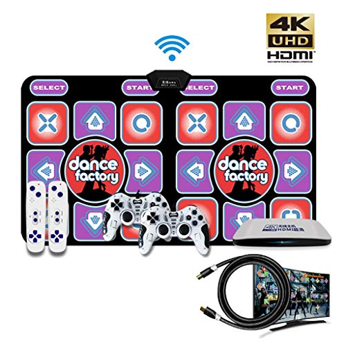 Hoge kwaliteit 4K HD Intelligent Dance Mat Double Wireless Home Somatosensorische Games Yoga matten Ondersteuning 4 spelers Giveaway 16G geheugenkaart -dansmat game tv (Color : Purple, Size : 30MM)