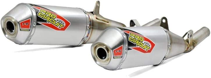 Pro Circuit T-6 Slip-on Exhaust - latest Dual Steel for 18- Max 56% OFF Stainless
