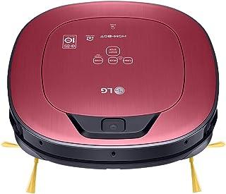 LG VR9624PR Hombot Turbo Serie 11 - Robot aspirador programable con doble cámara, limpieza a distancia vía Smartphone, para casas con mascotas, niños y alfombras, color rojo metalizado