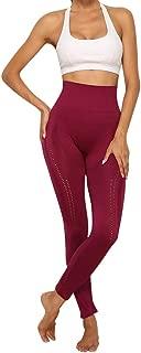 💓ASeir💓High Waist Yoga Pants, Yoga Pants Tummy Control Workout Running 4 Way Stretch Non See-Through Yoga Leggings