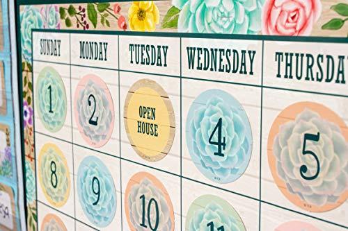 Rustic Bloom Calendar Bulletin Board Set Photo #7