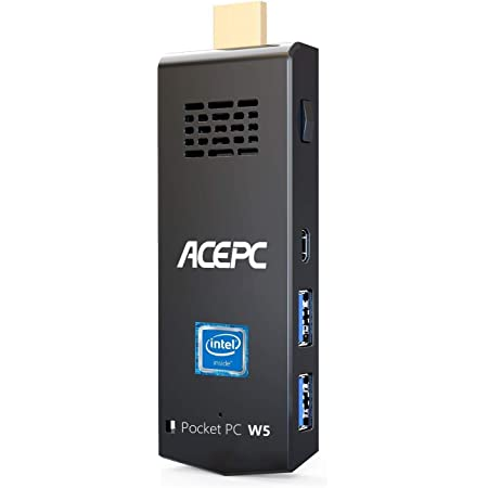 ACEPC Mini PC Stick Intel Atom Z8350 Windows 10 Pro 64bit 8GB DDR3 / 128GB eMMC,Soporte 4K HD, 2.4G / 5G WiFi de Doble Banda AC, BT 4.2