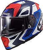 LS2 Casco de moto FF390 BREAKER ANDROID Azul Rojo, Azul/Blanco/Rojo, XS