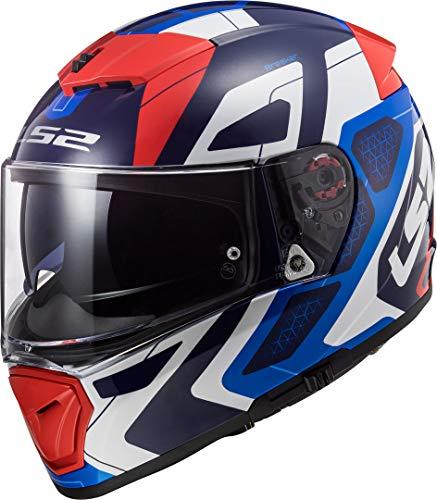 LS2 NC Casco per Moto, Hombre, Azul/Blanco/Rojo, M