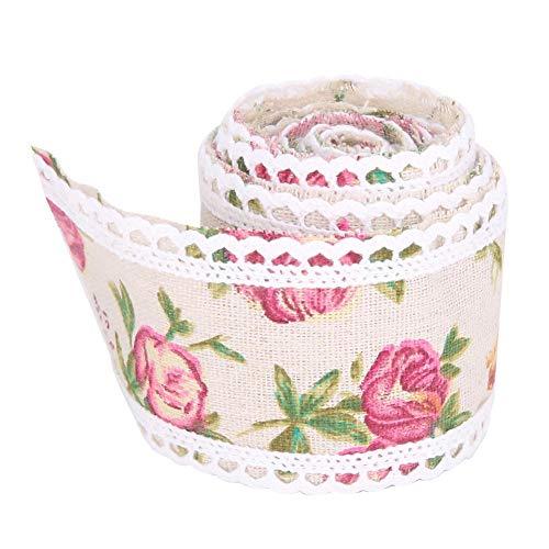DIY Handicrafts Lace Trim Ribbon Wedding Cake Vintage Burlap Ribbon Roll Flower Ribbon for Party Clothing Accessory